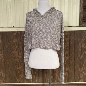 Staring at Stars UO cropped sweater hooded Size XS